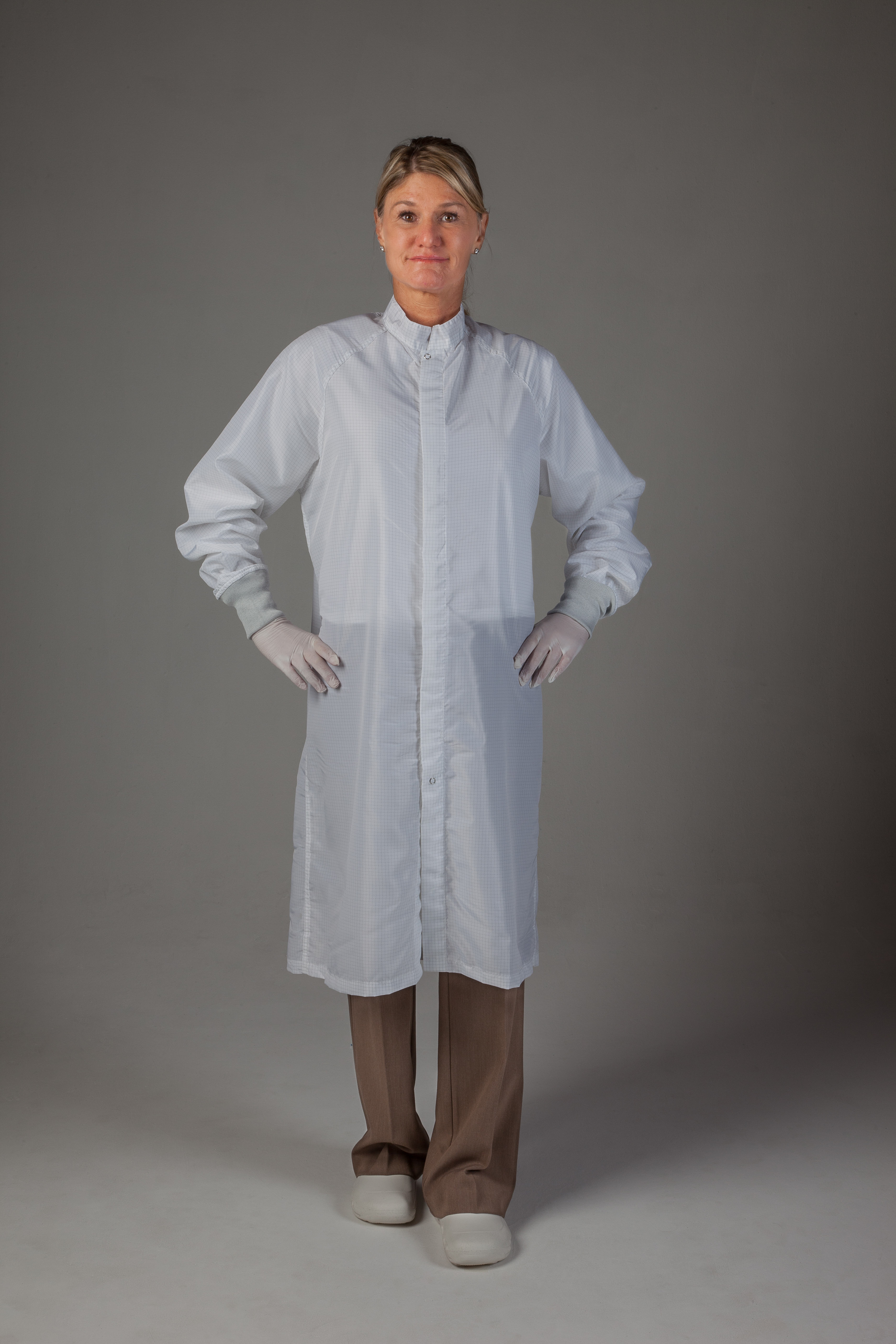 Cleanroom Frock, Zipper Front, Knit Cuffs